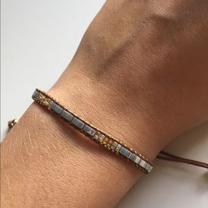 Jewelry - silver gold and brown bracelet